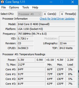 CoreTemp Monitor