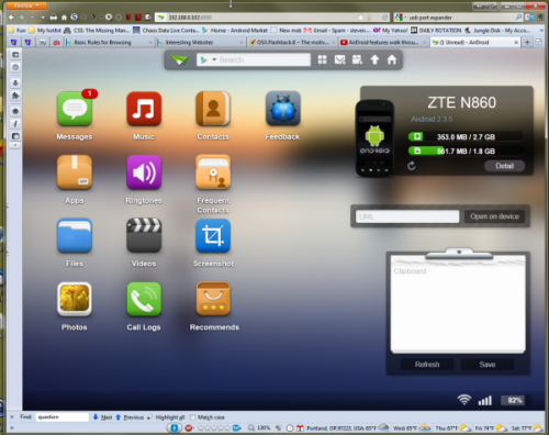 Airdroid on desktop