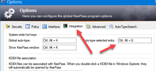 Faster and easier website login with KeePass