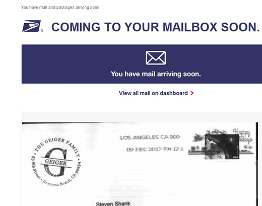New US Post Office Service